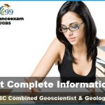UPSC Combined Geoscientist and Geologist Application Form 2019
