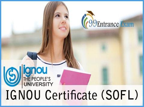 IGNOU Certificate (SOFL)