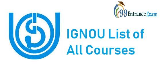IGNOU List of courses