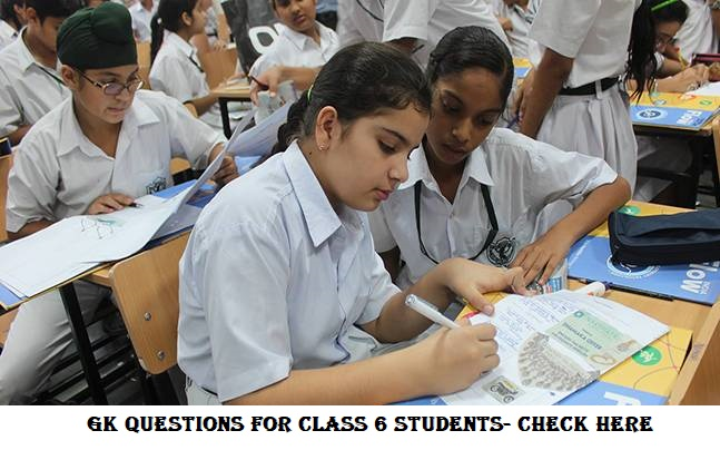 GK questions for class 6