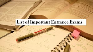List of Entrance Exams India